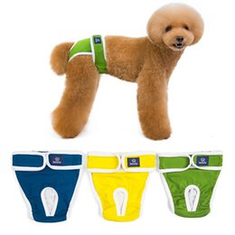 $enCountryForm.capitalKeyWord NZ - Dog Physiological Pants S-XXL Diaper Sanitary Washable Female Dog Shorts Panties Menstruation Underwear Briefs Jumpsuit for Dog
