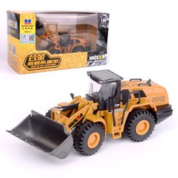 Die cast toys online shopping - 1 Scale Truck Model Die cast Alloy Metal Car Excavator Loader Truck Vehicle Model Toy Engineering Toy for Kids