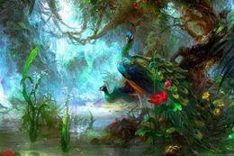 $enCountryForm.capitalKeyWord Australia - Beautifull Peacock,Home Decor HD Printed Modern Art Painting on Canvas (Unframed Framed)