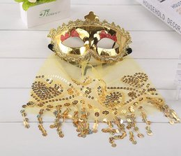 $enCountryForm.capitalKeyWord Australia - Masquerade Mask Girl Sexy Venetian Belly Dance Veil Mask Dance Performance Game Uniform Sexy Mask with Veil