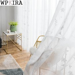 $enCountryForm.capitalKeyWord Australia - Pastoral Embroidered White Voile For Living Room Window Screening Curtains for Bedroom Tulle Window Curtains Panels S101&30