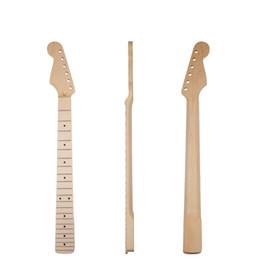 $enCountryForm.capitalKeyWord UK - Left Handed Guitar 22 Frets Neck Rosewood Fingerboard Matt White Maple Guitar Neck W  Black Dots Replacement
