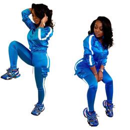 Yoga Pants Jacket UK - Womens designer jacket legging outfits 2 piece set tracksuit outerwear tights sport suit long sleeve cardigan pants tracksuit hot klw1113