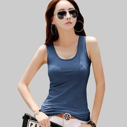 $enCountryForm.capitalKeyWord Australia - sintimes Sleeveless Basic Tank Tops Female Summer Top Women Clothes 2019 Tees Cotton Solid Korean Fashion Woman T Shirt Femme