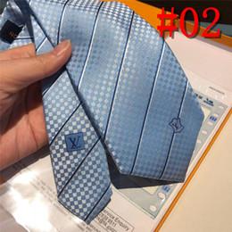 Luxury Men Tie Australia - luxury designers Men Ties Silk Tie Mens Neck Ties Handmade Wedding Party letter Necktie France 6 Style Business Ties lattice L
