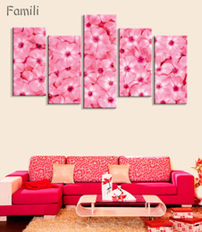 $enCountryForm.capitalKeyWord NZ - 5 Panels HD Printed Red Rose Flower Wall Art Painting Canvas Print Room decor print poster Picture Canvas