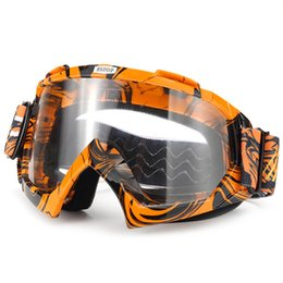 ski goggles orange Australia - Motorcycle Windproof Glasses Goggles Motocross DustProof Racing Glasses Cycling Skiing Anti Wind