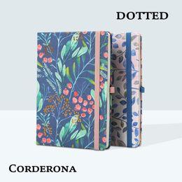 $enCountryForm.capitalKeyWord Australia - Dotted Hard Notebook Cover Flower Elastic Dot Grid Bujo Travel Diary Journal