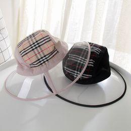 Capping strip online shopping - Folding Transparent Womens Buckets Hats Caps Creative Ladies PVC Beach Sun Visor Fisherman Hat Strip Wide Brim Caps LJJT716