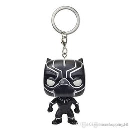 $enCountryForm.capitalKeyWord Australia - Pretty Discout Big discout Funko Pocket POP Keychain - Black Panther Vinyl Figure Keyring with Box Toy Gift Good Quality Free Shipping