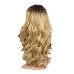 $enCountryForm.capitalKeyWord Australia - Hair Care Wig Stands Women's Fashion Wig Gold Long Curly 24 inches Head Over Female Rose Net High Temperature Fiber Feb14