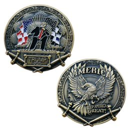 $enCountryForm.capitalKeyWord UK - 2020 Donald Trump Challenge Coin, The Ancient Bronze Collection Coins The President Commemorative Coin Gift Keep America Great Free Shipping