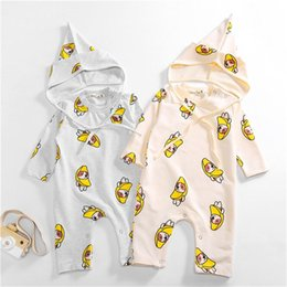 $enCountryForm.capitalKeyWord Australia - New Design Spring Fall Toddler Baby Boys Girls Cartoon Bodysuits with Hat 2pieces Shoulder Button Jumpsuit Quality Cotton Baby Romper 3-18M