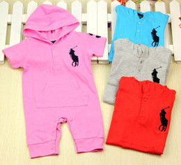 Polo Girls Australia - Newest 2019 summer Super Cute unisex baby rompers short-sleeve polo baby boys&girls Hoodie 100% cotton baby jumpsuits clothing