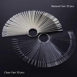 $enCountryForm.capitalKeyWord Australia - 200Tips False Nail Tips Nature Clear Black Fan Full Card Nail Art Display With Ring UV Gel Polish Tool Manicure F0725