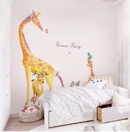 $enCountryForm.capitalKeyWord Australia - Forest Animal Large Giraffe Elephant Fox Tree Wall Stickers for Kids Room Children Wall Decal Nursery Bedroom Decor Poster Mural
