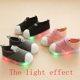 led canvas prints NZ - Free delivery 2019 spring style children's athletic shoes LED bright light single shoe girl shine fashion casual set foot boy shine board sh