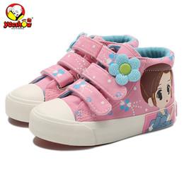 $enCountryForm.capitalKeyWord Australia - 2019 New Spring Kids Canvas Sneakers Brand Children Casual Shoes Denim Girls Princess Shoes Student Flat Boots MX190727