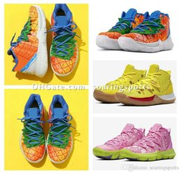 Kyrie size 12 online shopping - Kyrie Pineapple House Patrick Squidwards Basketball Shoes Star Kids Kyrie Low MR Krabs Sandy Cheeks Sneakers With Box Size US4 soari