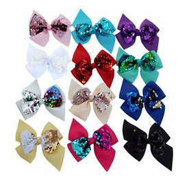 $enCountryForm.capitalKeyWord Australia - New bow sequin hair clip fashion baby girls hairpin double bow barrettes hair accessories for 12 different colors