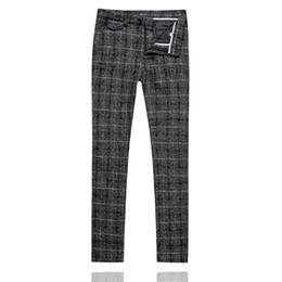 $enCountryForm.capitalKeyWord UK - Mens Plaid Suit Pants Slim Design Men Dress Pant 2019 New Fashion Black Men Trousers Asia Size S M L XL XXL XXXL 4XL 5XL