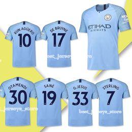 c9d9a3fa9f8 New hot selling City Home Blue Soccer Jerseys 18 19 10 KUN AGUERO Away Soccer  Shirt 2019 17 DE BRUYNE Third Football Uniform