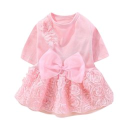 small teddy clothes UK - Teddy Puppy Wedding Dresses Pet Dog Lace Dress Clothes Sweety Princess Dress Bow-kont Dog Small Medium Dogs Pet Clothing