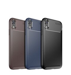 Nextel Battery Australia - Carbon Fiber Texture TPU Cell Phone Cases For Iphone X XR XS MAX Samsung S10 Huawei Mate 20 Slim Soft TPU Case