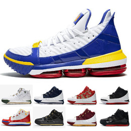 ad00d7500a1 2019 New Arrival  23 Zoom LeBron III 3 Home SuperBron Mens Basketball Shoes  High quality White Blue Red Black James 3s Sports Sneakers