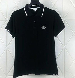 Wholesale breathable polo for sale – custom HOT Embroidered tiger Polo shirts mens designer t shirts brand clothing short sleeve summer calssic luxury Business Casual tops tee