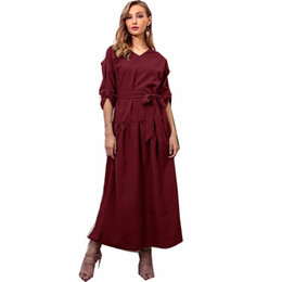 $enCountryForm.capitalKeyWord UK - Autumn Winter New Fashion Irregular V-neck Long Sleeve Casual Solid Dress Frocks Women Dresses Vestido Robe Femme Vintage Elbise
