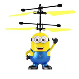 flying toy helicopter planes 2019 - NEW induction flying toy Cartoon doll flying fairy suspended luminous crystal ball helicopter induction plane as childre