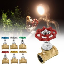 vintage water pipes Australia - Industrial Lamp Stop Valve Light Switch For Steampunk Lamp Loft Style Iron Valve Vintage Table Lamp Water Pipe Fixtures Lighting