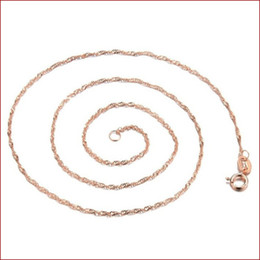 Rose Chains Australia - Wholesale girl necklace good fortune Temperament of female plating rose gold water wave chain plating necklace item act the role ofing