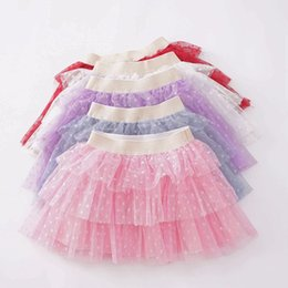 Baby Pettiskirts Tutus Australia - 2019 little girls tutu skirts baby polka dot pettiskirts kids princess tulle skirt childrens boutique clothing birthday party supplies candy