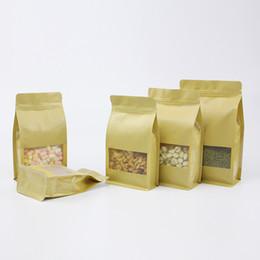 $enCountryForm.capitalKeyWord UK - kraft paper eight edge sealing bag with clear window zip lock brown bag,thicken packaging tea,coffee,nut,spices,grain,dry food package pouch