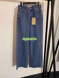 $enCountryForm.capitalKeyWord Australia - high end women girls blue denim pants jeans vintage casual loose wide leg straight long top quality runway fashion design luxury trousers