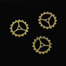 $enCountryForm.capitalKeyWord Australia - 28pcs Antique Bronze Plated gear Charms Pendants fit Making Bracelet Necklace Jewelry Findings Jewelry Diy Craft 40mm