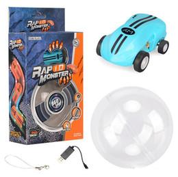 $enCountryForm.capitalKeyWord Australia - Mini High Speed Laser Light Cars spinner 360° rotations Funny cool lights many kinds of tricks USB Recharging kids toys 2 gears