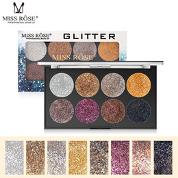 glitter wholesaler NZ - Miss Rose Bling Bling 8 colors Glitter Eyeshadow Palette Waterproof Diamond Metallic Shimmer Eye Shadow Pigmented women Beauty Cosmetic
