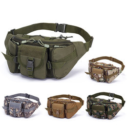 wholesale large bowls Australia - Camouflage Bag Men's Sports Outdoor Large-capacity sports bag suitcase Tactical Pockets Riding Travel Running Multi-function Chest Bag