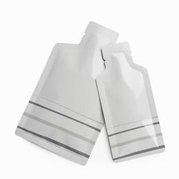 $enCountryForm.capitalKeyWord UK - 200pcs White Bottle Shape Open Bottom Aluminum Bag Pure Metal Mylar Packaging Bags Heat Seal Coffee Honey Liquid Packing Bag