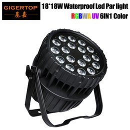 Bulb Case Australia - Freeshipping 300W High Power 18x18W RGBWAP 6 Color Outdoor Stage Led Par Light IP65 Big Aluminum Case Good Light SKY