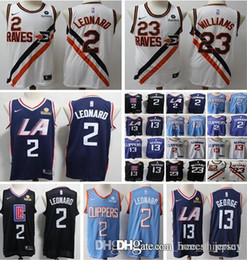 basketball jersey xxl Australia - 2019 men Los Angeles Kawhi Clippers 2 Leonard Paul 13 George Lou 23 Williams LA basketball jersey size s-xxl