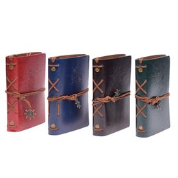 $enCountryForm.capitalKeyWord UK - New Vintage garden travel diary books kraft papers journal notebook spiral Pirate notepads cheap school student classical books