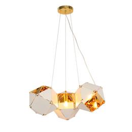 $enCountryForm.capitalKeyWord NZ - Welles Post Modern Metal Creative DNA Pendant White  Black Long  Circular Can Choose Designer Lamp For Restaurant Studio Home