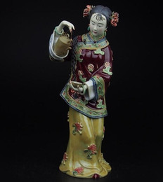 $enCountryForm.capitalKeyWord Australia - The best Christmas gift, Best Birthday gift!!! High10 inch Chinese handmade ceramic Statue Folk art Ladies porcelain Sculpture