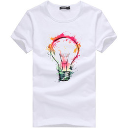 Bulb Design pintado Men 'S T Shirt Cool Fashion Tops manga curta Tees For Men New Color Tamanho M-XXXL