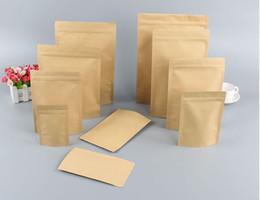 Stand up zip poucheS online shopping - Zipper Brown Kraft aluminizing pouch Stand up kraft paper aluminium foil bag Resealable Zip Lock Grip seal Food Grade LZ1873