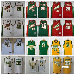 Seattle Basketball Gary Payton Jersey Men Kevin Durant Shawn Kemp Ray Allen  Red Green Yellow White Sport Shirts Uniform 2dbdf551d